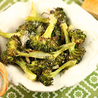 Roasted Broccoli with Toasted Parmesan Cheese