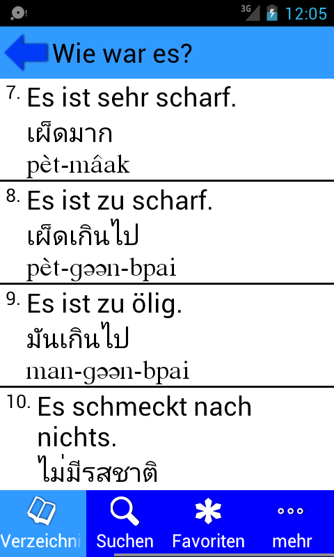 Survival-Thai für Deutsch- screenshot