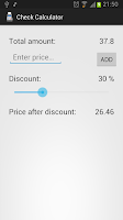 Screenshot of Check Calculator