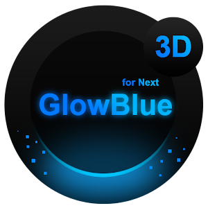 Next Launcher Theme GlowBlue 個人化 App Store-愛順發玩APP