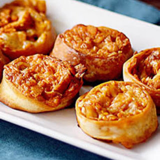 Quick Buffalo Chicken Pizza Pinwheels