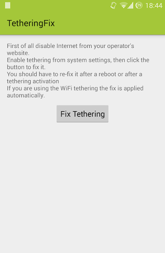 DF Tethering Fix