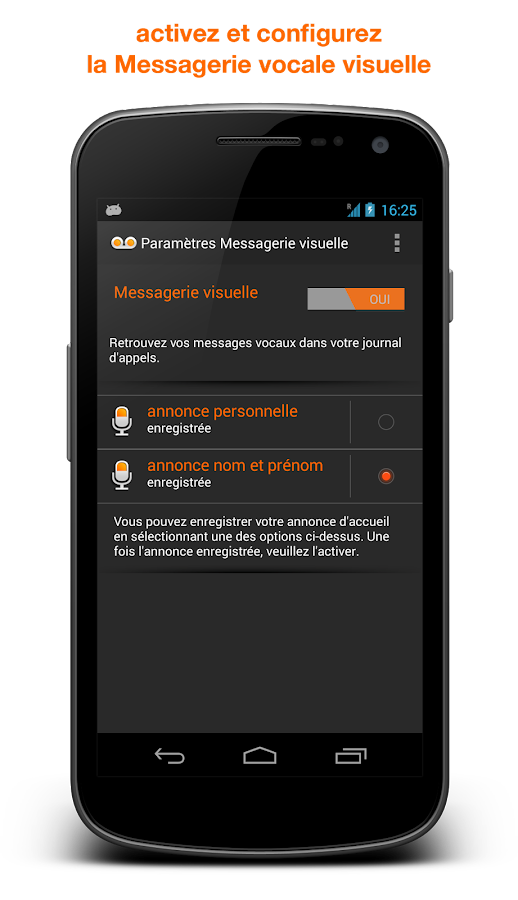 Visual Voicemail - screenshot