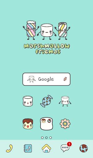 marshmallow friend dodol theme