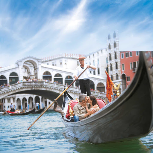 Find romance during an iconic gondola ride through the canals of Venice during your Windstar Cruises sailing.