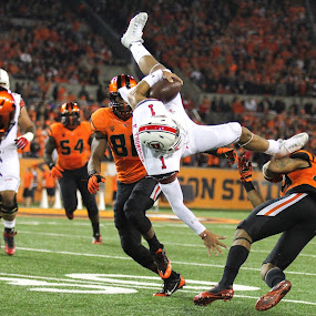 Up and Over by Justin Quinn - Sports & Fitness American and Canadian football ( pac-12, ncaa, football, beavers, utah, college, oregon state university,  )