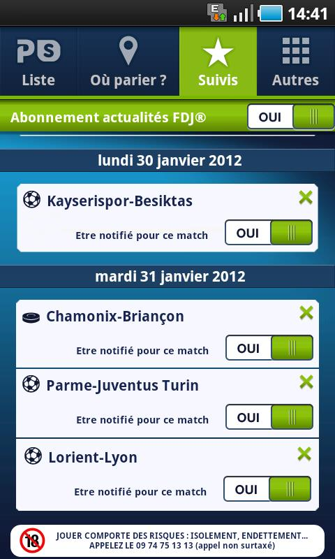 Parions Sport - screenshot