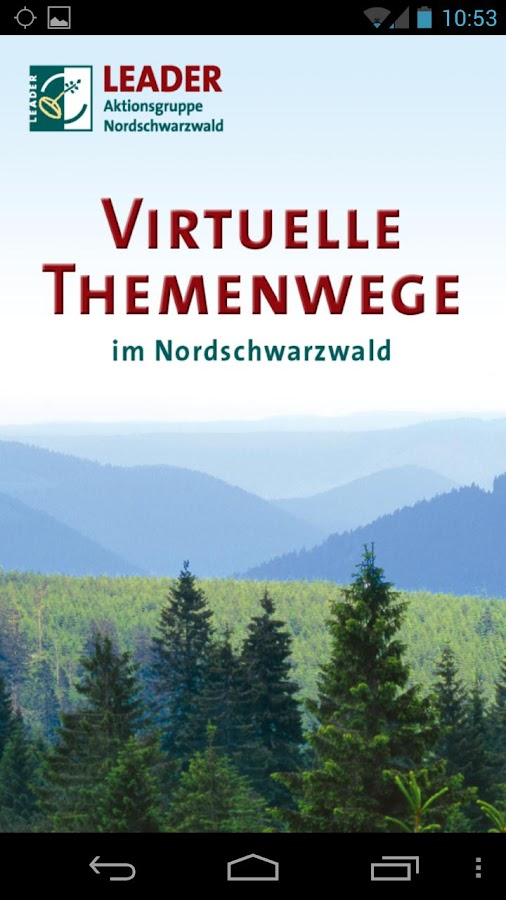 Virtuelle Themenwege - screenshot