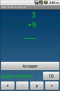 QuizMath math flash cards lite - screenshot thumbnail