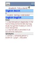 Screenshot of English-Dutch Dictionary Pro