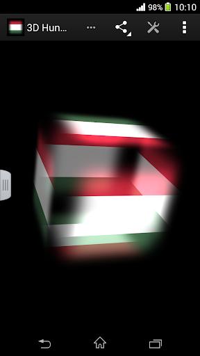 3D Hungary Cube Flag LWP