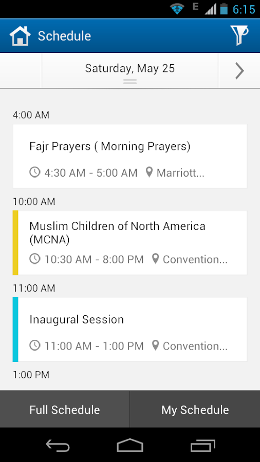 ICNA-MAS Convention 2013 - screenshot