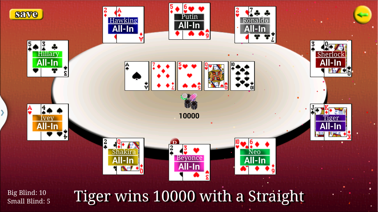 Virtual Poker - screenshot