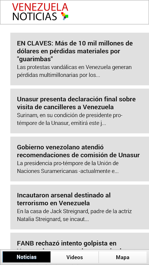 Noticias Venezuela- screenshot