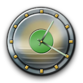 Metal Buttons:Green Clock