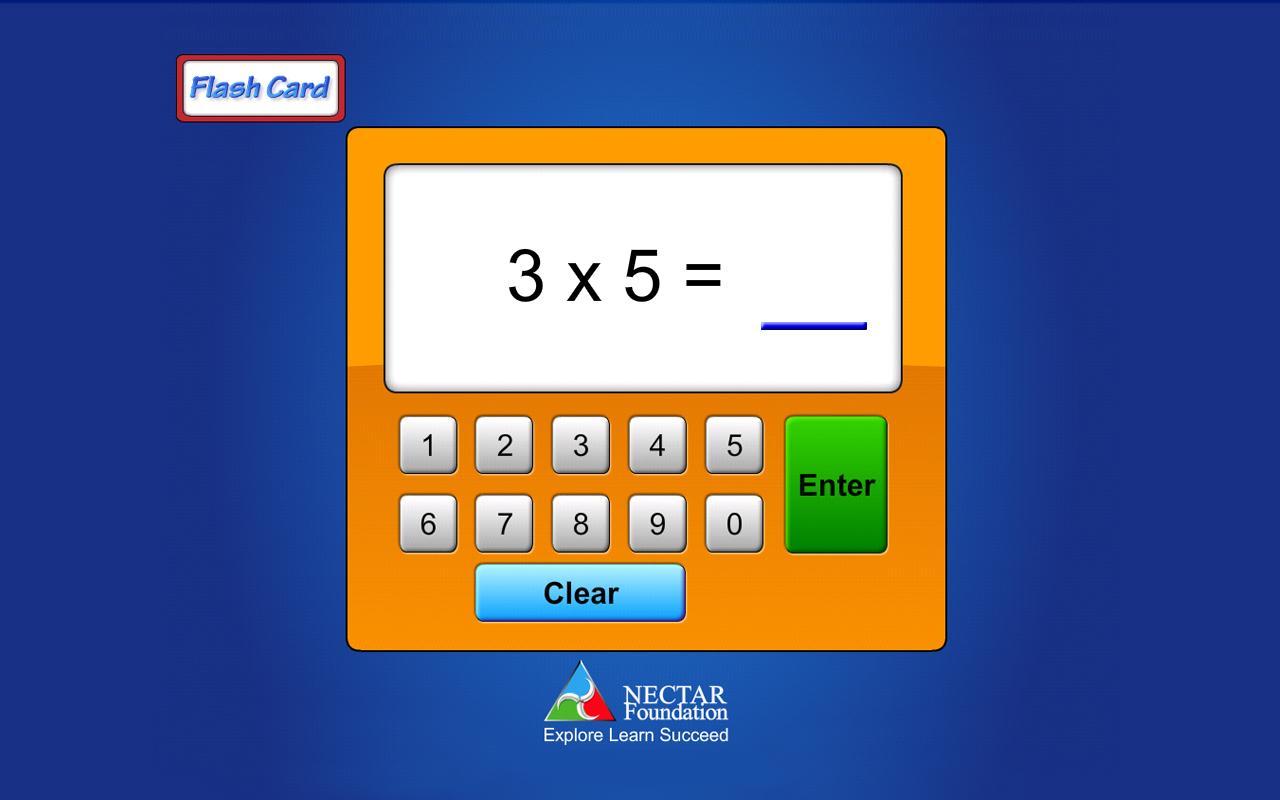 Flash Card Multiplication- screenshot