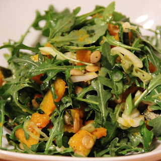 Kabocha Squash and Arugula Salad.