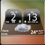 MIUI Dark Digital Weather CL. Apk