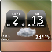 MIUI Dark Digital Weather CL.