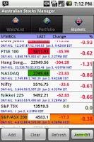 Screenshot of Australian Stock Manager