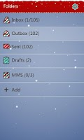 Screenshot of GO SMS Pro Xmas Moose Theme