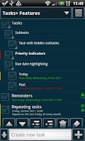 Screenshot of Tasks+ To Do List Manager