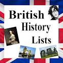 British History Lists