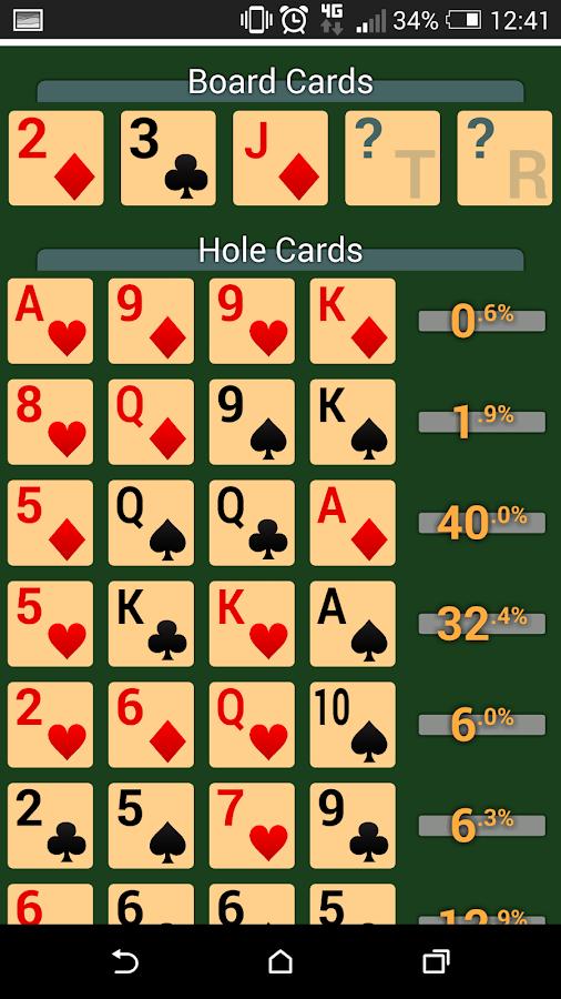 Poker algorithm calculator