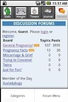 Screenshot of Happy Pregnancy Ticker