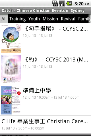 Catch:Chinese Christian Events