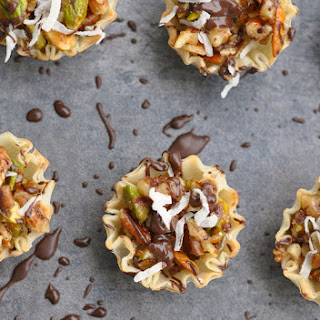 Chocolate Coconut No-Bake Baklava Bites