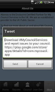 UK - My Council Services - screenshot thumbnail