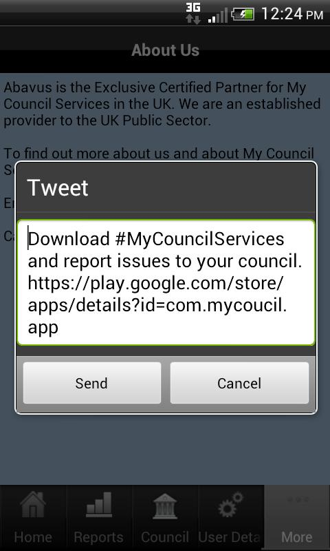 UK - My Council Services - screenshot