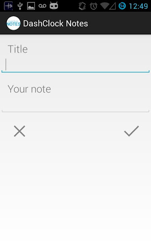 DashClock Notes Pro