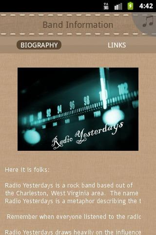 Radio Yesterdays - screenshot