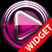 Poweramp widgetpack  Pink Glas