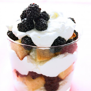Blackberry and Ginger Trifle