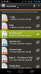 Acer Remote Files - screenshot thumbnail