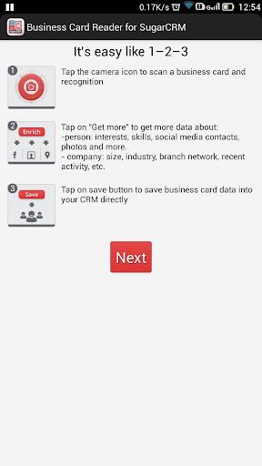 Business Card Reader for Sugar CRM 1.1.124 screenshots 10