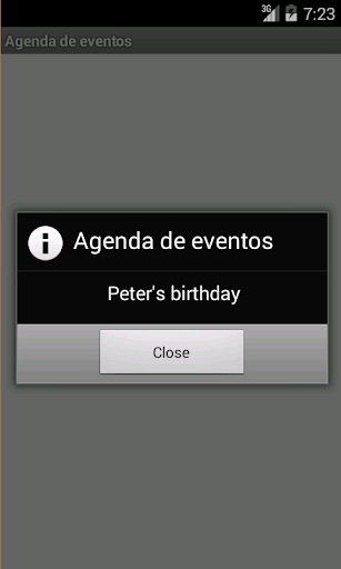 Agenda de eventos Screenshot