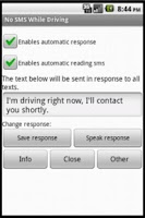 Screenshot of Auto reply and read Message