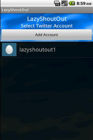LazyShoutOut for Twitter - screenshot