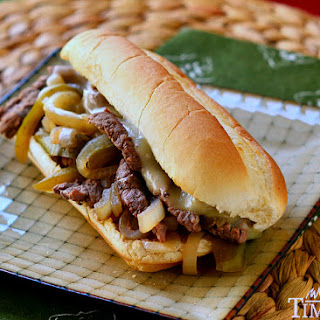 Slow Cooker Philly Cheesesteaks