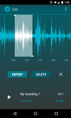 AudioField: MP3 Voice Recorder - screenshot