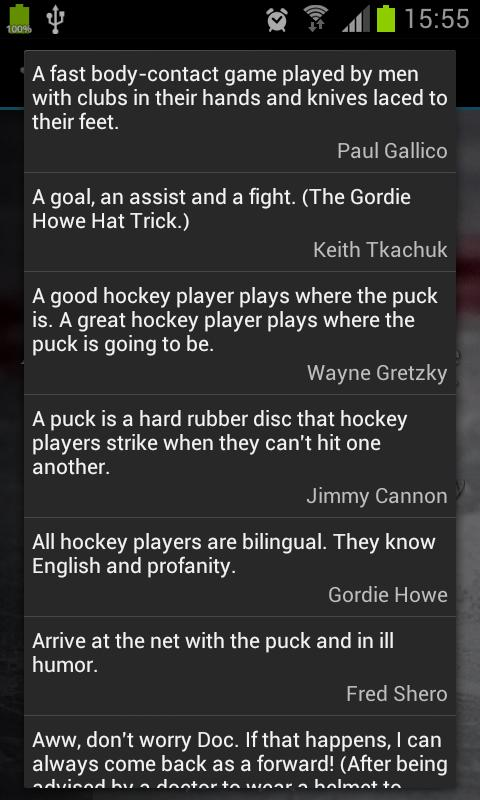 Hockey Quotes - screenshot