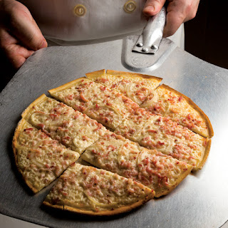 Alsatian Bacon and Onion Tart (Tarte Flambée).