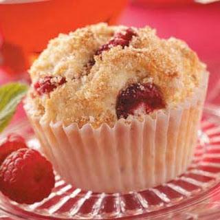 Raspberry Cream Muffins.