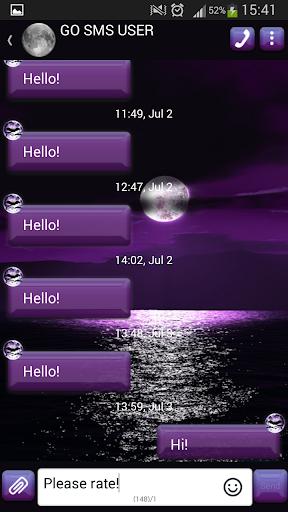 GO短信加强版紫色的月亮