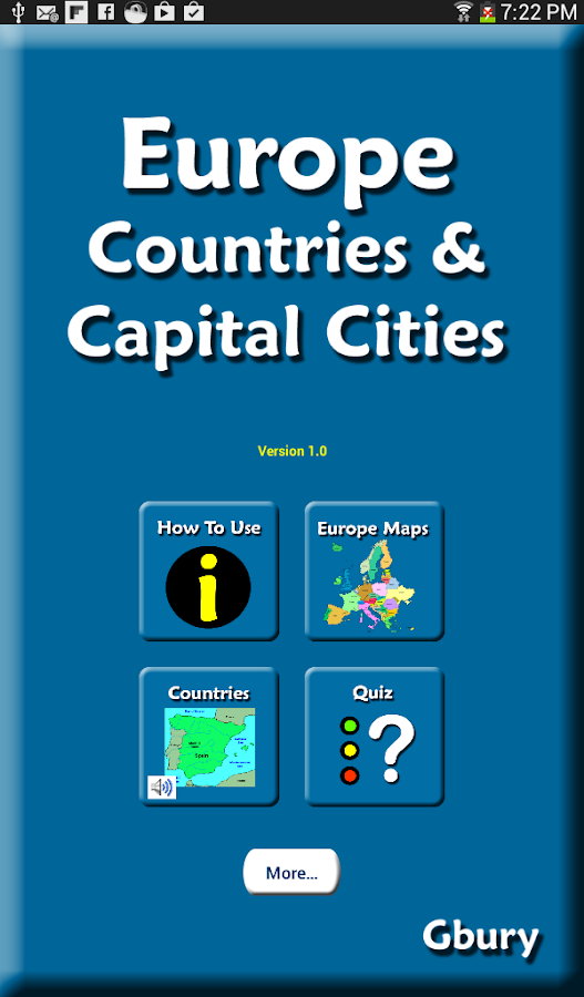 Learn: Europe capitals (by j98320) - Memorize.com ...