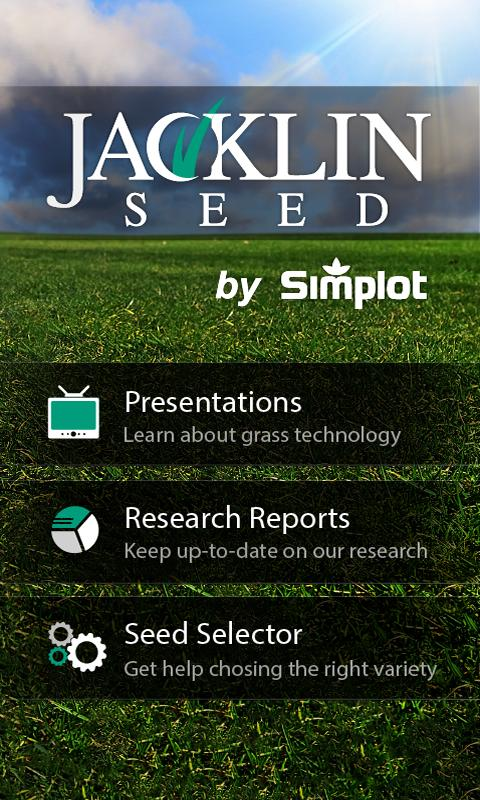 Jacklin Seed App - screenshot
